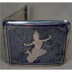 SIAM STERLING SILVER CIGARETTE CASE