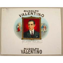 RARE EARLY RUDOLPH VALENTINO CIGAR BOX LABEL
