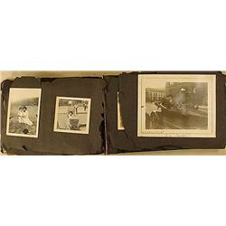 C. 1910'S PHOTO ALBUM W/ APPROX. 169 PHOTOS - PATT