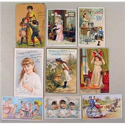 LOT OF 9 VICTORIAN TRADE CARDS - Incl. Little girl