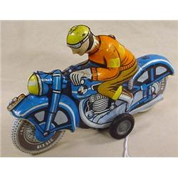 VINTAGE TIN LITHO FRICTION MOTORCYCLE