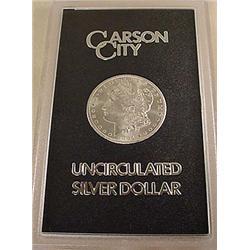 1884-CC CARSON CITY MORGAN SILVER DOLLAR IN GSA CA