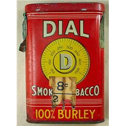 VINTAGE DIAL TOBACCO POCKET TIN