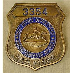 SAN DIEGO POST OFFICE DEPT. BADGE NO. 3354 - We be