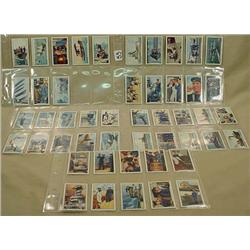 LARGE LOT OF VINTAGE CIGARETTE CARDS - NAVY AND RO