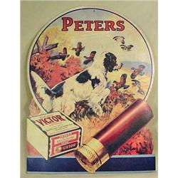 VINTAGE PETERS VICTOR SHOTGUN SHELLS ADVERTISING S