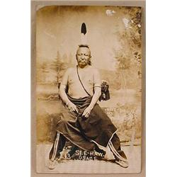 1910 RPPC REAL PHOTO POSTCARD NATIVE AMERICAN INDI