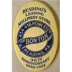 VINTAGE CELLULOID ADVERTISING POCKET MIRROR - THE