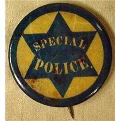 1900 CELLULOID CALIFORNIA SPECIAL POLICE PINBACK B