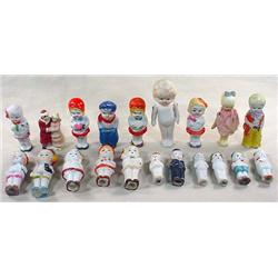 LOT OF APPROX. 20 ANTIQUE BISQUE DOLLS - JAPAN - N