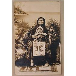 RPPC REAL PHOTO POSTCARD OREGON NATIVE AMERICAN IN