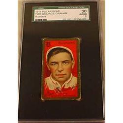 1911 T205 GEORGE GRAHAM POLAR BEAR CIGARETTE CARD
