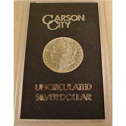 1882-CC CARSON CITY MORGAN SILVER DOLLAR IN GSA CA