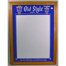 UNUSED OLD STYLE BEER LICENSE HOLDER W/ WOOD FRAME