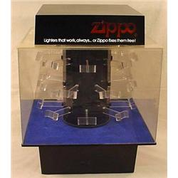 ZIPPO LIGHTER DISPLAY SHOWCASE - LIGHTS UP AND REV