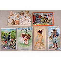 LOT OF 6 VICTORIAN TRADE CARDS - Incl. Black Ameri