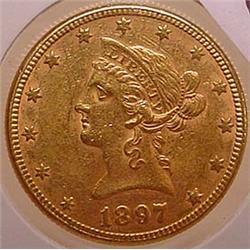 1897 10 DOLLAR LIBERTY GOLD COIN - See Pics to Gra