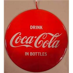 VINTAGE CELLULOID COCA-COLA ADVERTISING SIGN - App