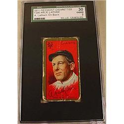 1911 T205 ARLIE LATHAM PIEDMONT CIGARETTE CARD SCG