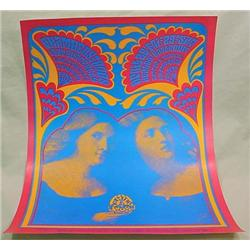 1967 ROCK CONCERT POSTER - SAN FRANCISCO - With th