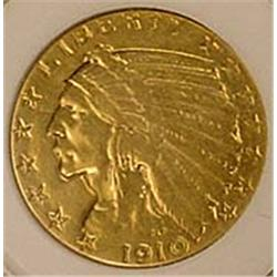 1910 5 DOLLAR INDIAN GOLD COIN - See Pics to Grade
