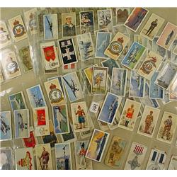 LARGE LOT OF VINTAGE CIGARETTE CARDS - MILITARY, U