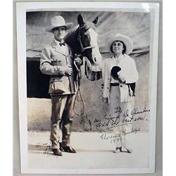 1934 ORIGINAL PHOTO TOM MIX AND FLORANCE RANDOLPH