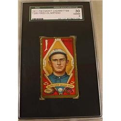 1911 T205 FRED OLMSTEAD PIEDMONT CIGARETTE CARD SC
