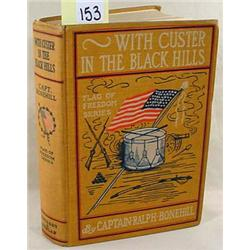 1902  WITH CUSTER IN THE BLACK HILLS  HARDCOVER BO
