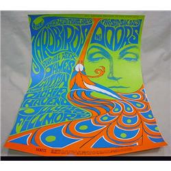 1967 BILL GRAHAM THE DOORS FILLMORE CONCERT POSTER