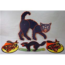 LOT OF 4 VINTAGE HALLOWEEN DIE CUTS