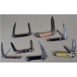 LOT OF 7 VINTAGE POCKET KNIVES - Incl. Imperial, C