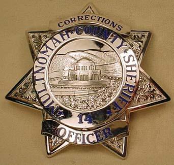MULTNOMAH COUNTY SHERIFF BADGE NO  14 - CORRECTION