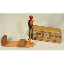 VINTAGE DANCING SAM IN ORIGINAL BOX - BLACK AMERIC