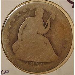 1850-O SEATED LIBERTY HALF DOLLAR - See Pics to Gr