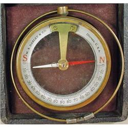 W.S. DARLEY AND CO. DIP NEEDLE COMPASS - USED TO F