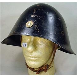 VINTAGE DUTCH ARMY HELMET W/ LINER AND CHIN STRAP