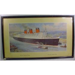 C. 1920'S OR 30'S RMS QUEEN MARY CUNARD WHITE STAR