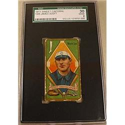 1911 T205 JAMES SCOTT SWEET CAPORAL CIGARETTE CARD