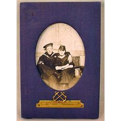 WW1 US PHOTO IN FRAME OF U.S. SAILOR AND FRIEND -
