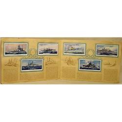 SET OF 50 VINTAGE CIGARETTE CARDS - NAVY SHIPS / N