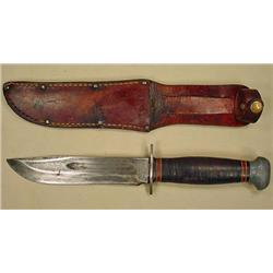 WW2 FIGHTING KNIFE W/ SCABBARD - PAL RH 36