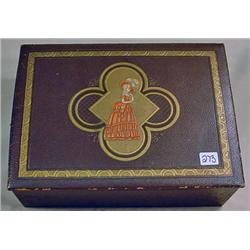 VINTAGE SEWING BOX W/ CONTENTS