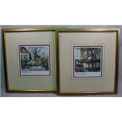 LOT OF 2 PRINTS - FRAMED AND SIGNED - One has some