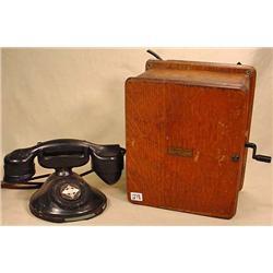 VINTAGE AMERICAN ELECTRIC TELEPHONE W/ CRANK RINGE