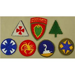 LOT OF 7 WW2 PATCHES - INCL. GHOST DIVISIONS