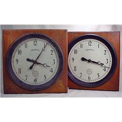LOT OF 2 HAHL PNEUMATIC CLOCKS - 1 IS FOR PARTS ON