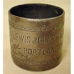 LEWIS AND CLARK EXPO SILVER NAPKIN RING - PORTLAND