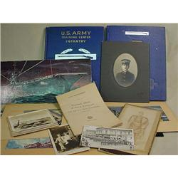LOT OF VINTAGE MILITARY ITEMS - Incl. photos, pict
