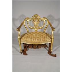 A Louis XV Style Fauteuil.
